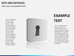 Keys and keyhole PPT slide 3