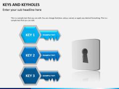 Keys and keyhole PPT slide 4