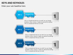 Keys and keyhole PPT slide 5