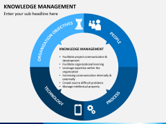 Knowledge management PPT slide 1