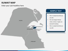 Kuwait map PPT slide 10