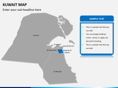 Kuwait map PPT slide 11