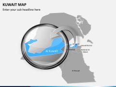 Kuwait map PPT slide 13