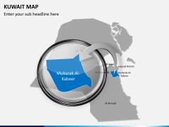 Kuwait map PPT slide 15