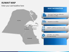 Kuwait map PPT slide 17