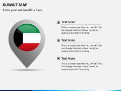 Kuwait map PPT slide 22