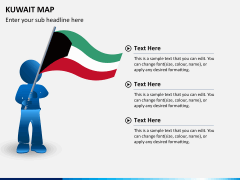 Kuwait map PPT slide 23