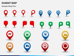 Kuwait map PPT slide 24