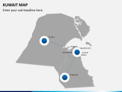 Kuwait map PPT slide 4