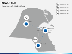 Kuwait map PPT slide 5