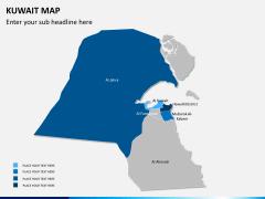 Kuwait map PPT slide 8