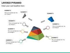 Layered pyramid PPT slide 16
