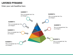 Layered pyramid PPT slide 18