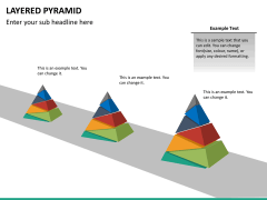 Layered pyramid PPT slide 19