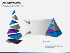 Layered pyramid PPT slide 1