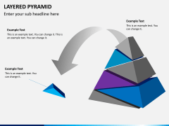 Layered pyramid PPT slide 10