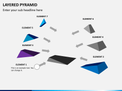 Layered pyramid PPT slide 2