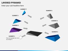 Layered pyramid PPT slide 2