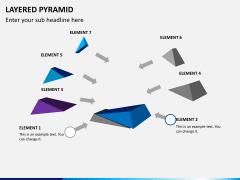 Layered pyramid PPT slide 3