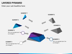 Layered pyramid PPT slide 4