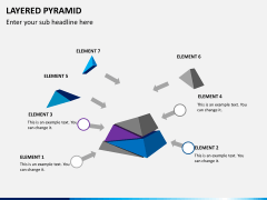 Layered pyramid PPT slide 5