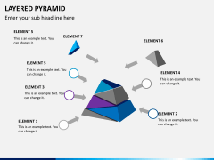Layered pyramid PPT slide 6
