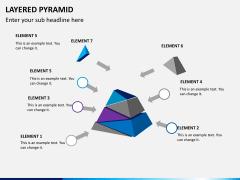 Layered pyramid PPT slide 6