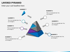 Layered pyramid PPT slide 7