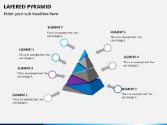 Layered pyramid PPT slide 8