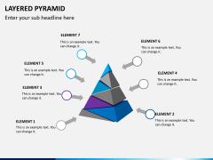 Layered pyramid PPT slide 8