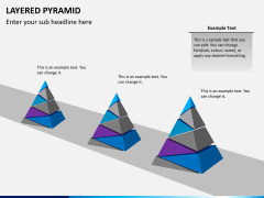 Layered pyramid PPT slide 9