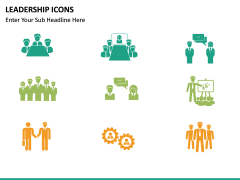 Leadership icons PPT slide 11