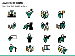 Leadership icons PPT slide 20