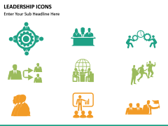 Leadership icons PPT slide 16
