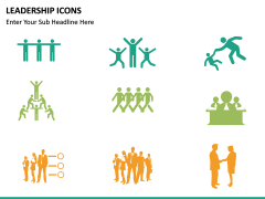 Leadership icons PPT slide 17