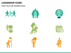 Leadership icons PPT slide 19