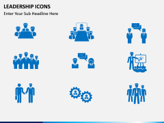 Leadership icons PPT slide 1