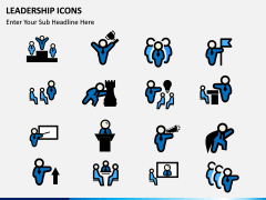 Leadership icons PPT slide 10
