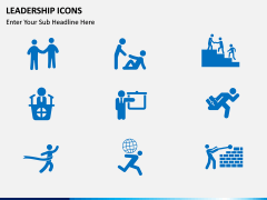 Leadership icons PPT slide 2