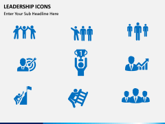 Leadership icons PPT slide 3