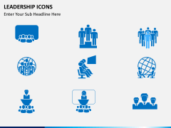 Leadership icons PPT slide 4