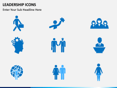 Leadership icons PPT slide 5