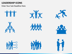 Leadership icons PPT slide 7