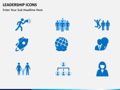 Leadership icons PPT slide 8