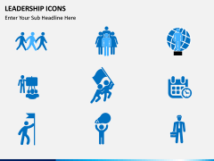Leadership icons PPT slide 9