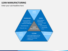 Lean manufacturing PPT slide 1