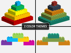 Lego blocks PPT cover slide