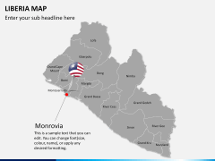 Liberia map PPT slide 18