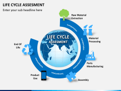Life cycle assessment PPT slide 1