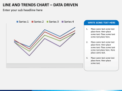 Line and trends chart PPT slide 2